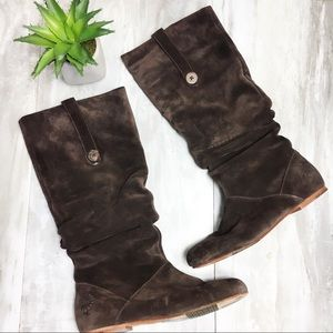 UGG Brown Suede Slouch Highkoo Boots